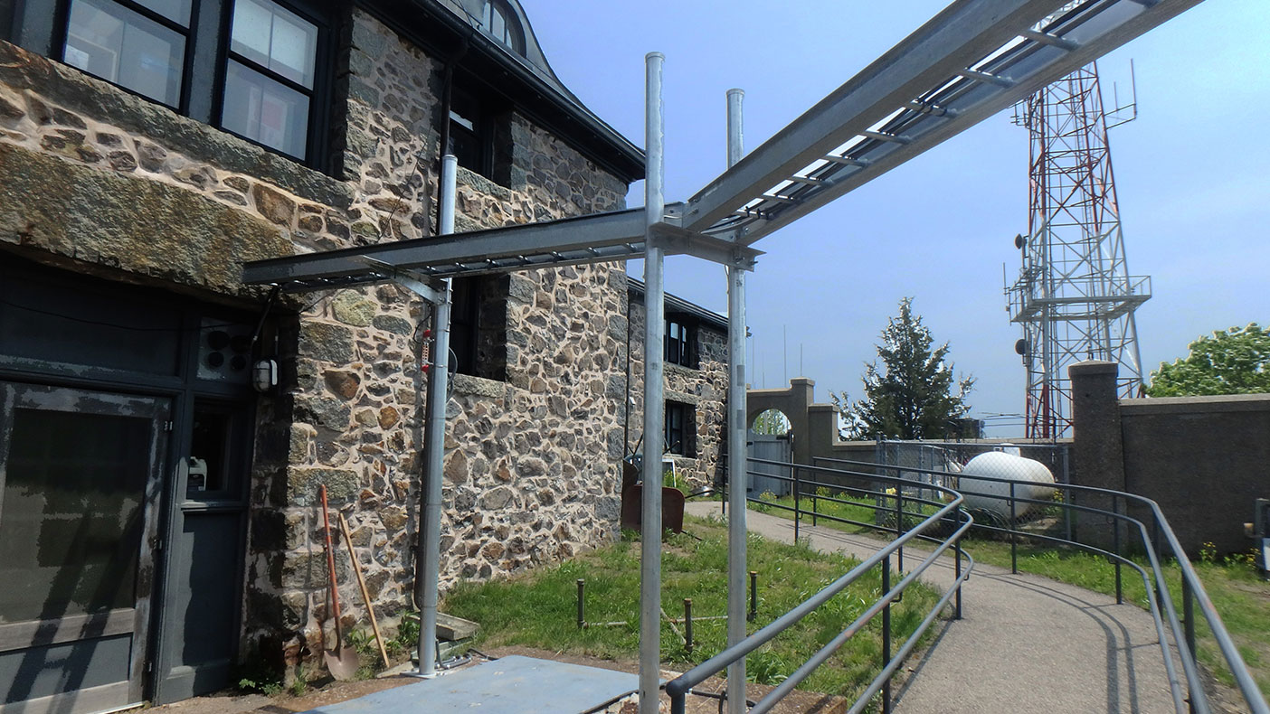 During design, we focused our attention on the rock anchor foundation, anchoring the tower into the foundation, and a custom mount to support the equipment.