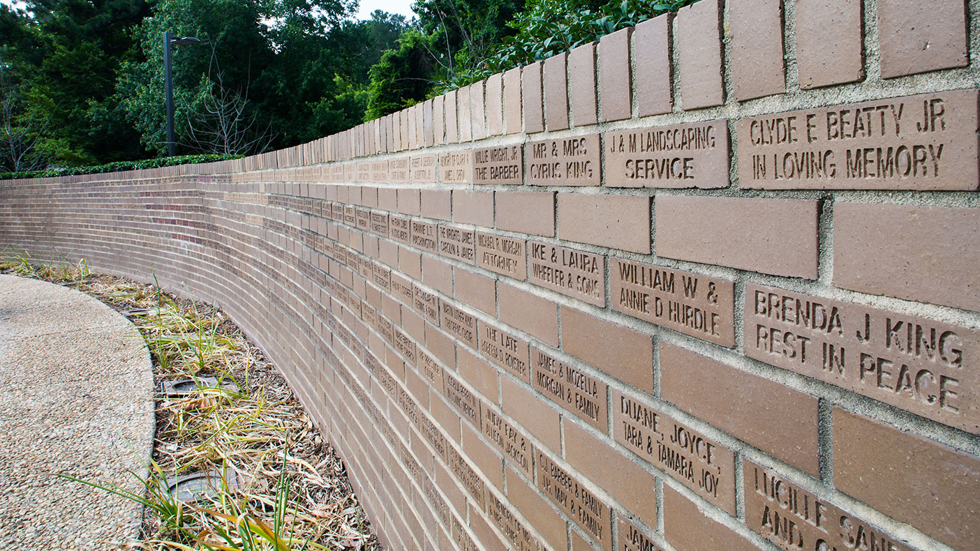 The donor wall recognizes those who helped make the Dr. Martin Luther King, Jr. Memorial Gardens a reality.