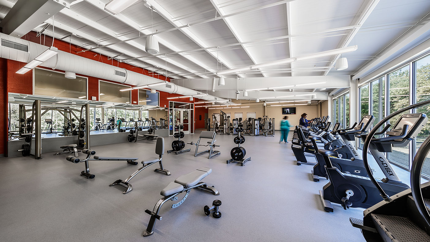 One of the key wellness components is a spacious 3,500-square-foot fitness center that includes restrooms and lockers.