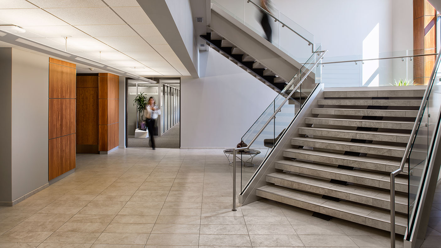 The renovation of Pekin Insurance's corporate headquarters included the upgrade of 472,000 square feet of space.