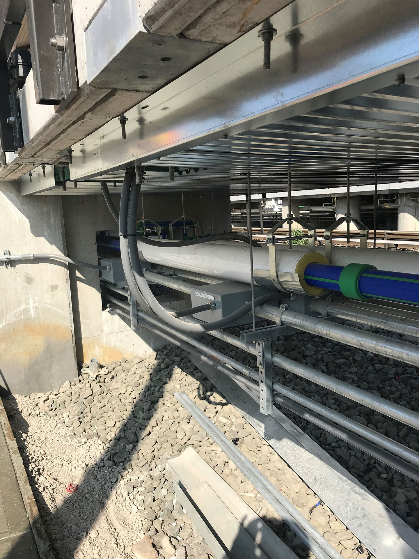 We installed an innovative first-of-its-kind custom snow melt system into the new platforms.